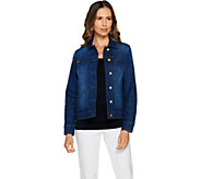 Isaac Mizrahi Live! TRUE DENIM Jean Jacket with Patch Pockets - A292091