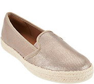 As Is Clarks Suede Slip-On Espadrilles Azella Theoni - A295691