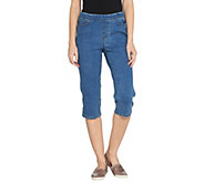 Denim & Co. Modern Denim Petite Pull-On Capri Jeans - A301891