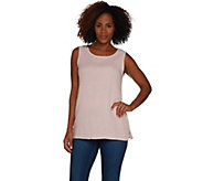 Joan Rivers Crinkle Texture Round Neck Tank - A302291