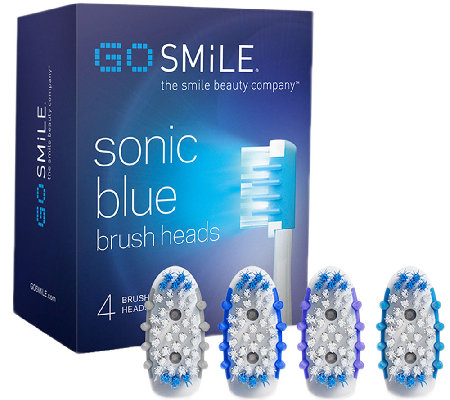 Go Smile Sonic Blue System Replacement Brush Heads 4