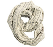 MUK LUKS Womens Snowflake Nordic Wide InfinityScarf - A337591