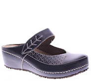 Spring Step LArtiste Leather Clogs - Romulus - A338191
