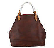 Isaac Mizrahi Live! New York Leather Tote - A210892