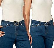 Liz Claiborne New York Nappa & Lizard Exchangeable Skinny Belt - A220792
