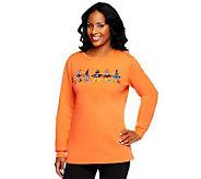 Quacker Factory You Go Ghoul Long Sleeve Sweatshirt - A226892
