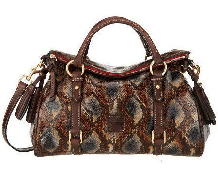 Dooney & Bourke Python Embossed Leather Satchel