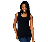 Kathleen Kirkwood Goldilocks Scoop Neck Tank with Lace Trim - A230092