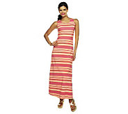 Liz Claiborne New York Mixed Stripe Printed Maxi Dress - A232592