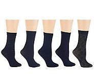 Passione Set of 5 Crew Trouser Socks - A232892