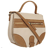 B. Makowsky Waverly Woven Embossed Leather Crossbody - A252292