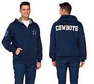 NFL Dallas Cowboys Fully Lined Sherpa Zip Up Hoodie - A255692