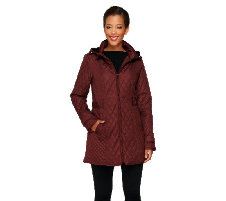 Liz Claiborne New York Mixed Quilted Jacket Qvc Com