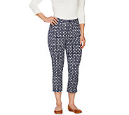 Denim & Co. Printed Twin-Stretch Crop Pant - A262692