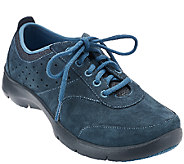 Dansko Suede Stain Resistant Lace-up Sneakers - Elaine - A268692