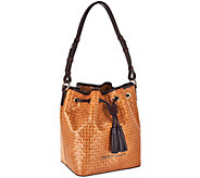 Dooney & Bourke Woven Embossed Leather Drawstring Bag - A269592