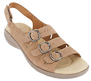 As Is Clarks Leather or Nubuck Sandals - Saylie Medway - A270092