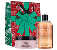 philosophy sweet vanilla fig shower gel & souffle duo w/ holiday bag - A271992