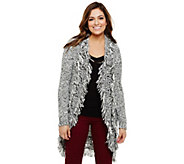 Bethany Mota Open Front Cocoon Cardigan with Fringe Detail - A273792