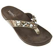 Vionic Orthotic Embellished Thong Sandals - Verity - A275392