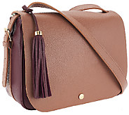 As Is Isaac Mizrahi Live! Nolita Pebble Leather Saddle Bag - A275992