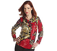 As Is George Simonton Scroll Print Paillette Jacket - A276992