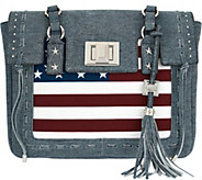 As Is Aimee Kestenberg Leather Flag Tote - Washington - A283992