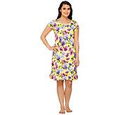As Is Isaac Mizrahi Live! Floral Print Sleep Dress - A286692