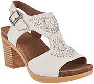 Dansko Nubuck or Suede Block Heel Sandals - Deandra - A289092