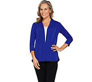 Susan Graver Liquid Knit Cardigan with Peplum Back - A289392