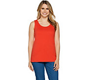 Isaac Mizrahi Live! Essentials Scoop Neck Tank Top - A290992
