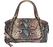Aimee Kestenberg Pebble Leather Convertible Satchel- Balboa - A292592