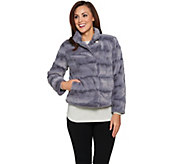 As Is Dennis Basso Pelted Faux fur Jacket - A293192