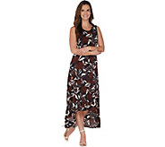 Kelly by Clinton Kelly Petite Knit Maxi Dress w/ Ruffle Hem - A305892