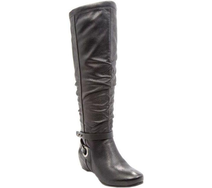 baretraps wide calf shaft wedge boots siobhan ii