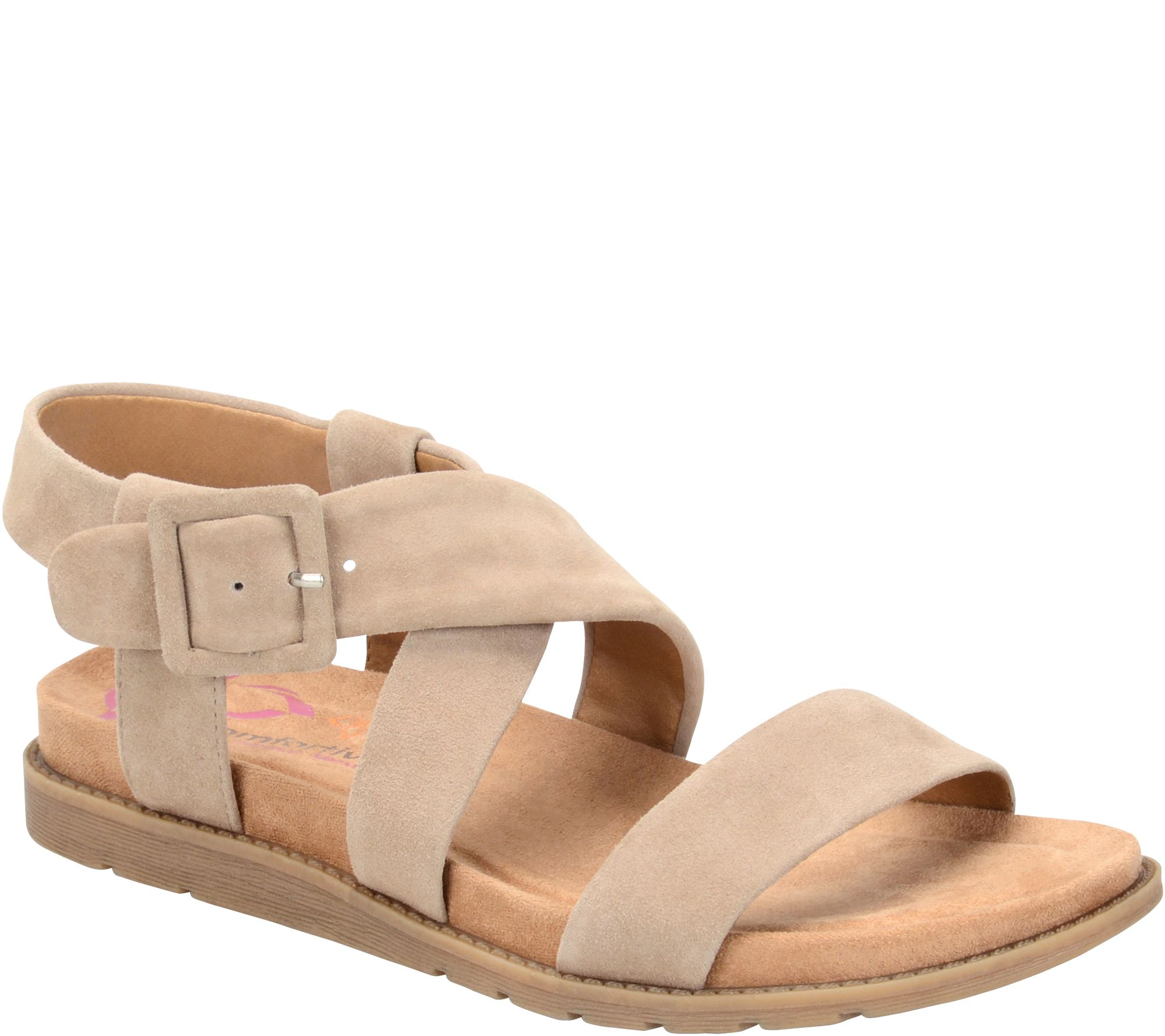 comfortiva by softspots leather sandals andria page 1 qvc com
