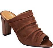 Aerosoles Heel Rest Leather Mules - Open Road - A360392