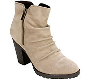 White Mountain Suede Leather Ankle Boots - Taft - A360992