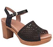 Dansko Open-Toe Block Heeled Leather Sandals -Denita - A412392