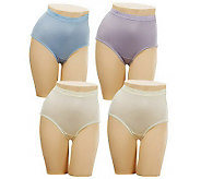 Breezies S/4 Nylon Lycra Womens Brief Panties w/UltimAir - A45692