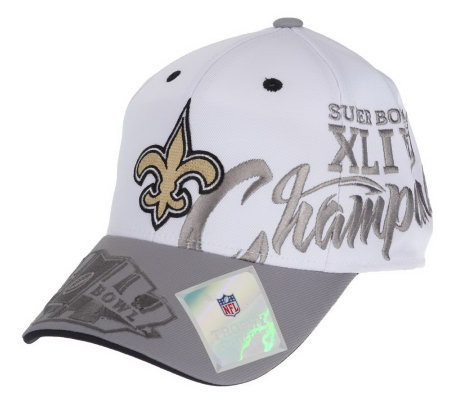 super bowl xliv champions saints locker room cap a202693