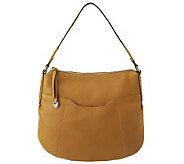 B. Makowsky Leather North/South Hobo with Braided Accent - A221293