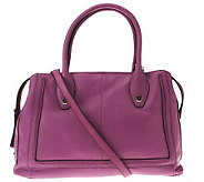 B. Makowsky Glove Leather Zip Top Convertible Satchel - A224393