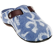 Vionic w/ Orthaheel Orthotic Slip-on Mule w/ Pattern -Flores - A226893