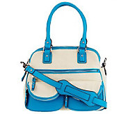 Aimee Kestenberg Canvas Lucy Satchel w/Front Pockets - A232593