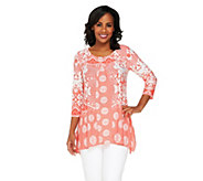Attitudes by Renee Regular Printed Tunic with Front Pleat - A240493