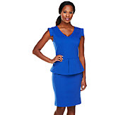 Status by Star Jones Knit Peplum Dress - A252493