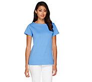 Liz Claiborne New York Essentials Bateau Neck Knit Top - A253093