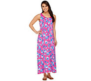 Carole Hochman Pansy Maxi Lounge Dress - A262193