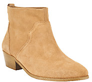 Sole Society Suede Ankle Boots w/ Stacked Heel - Carson - A263893